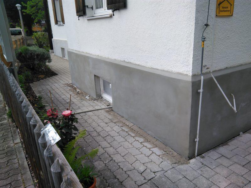 Garmisch-Partenkirchen Wiederherstellen eines Betonsockels mit PCC Mörtel