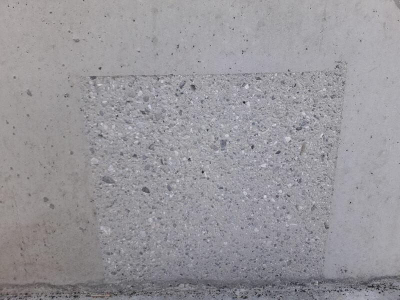Sichtbetonflächen durch Sandstrahlen Nass oder Trocken