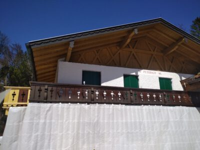 Grainau Balkon Dachstuhl Sandstrahlen